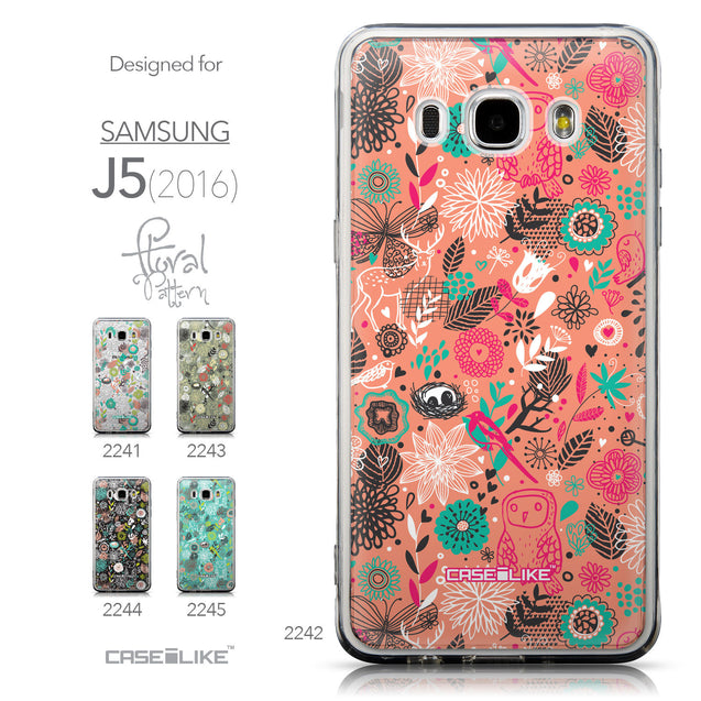 Collection - CASEiLIKE Samsung Galaxy J5 (2016) back cover Spring Forest Pink 2242