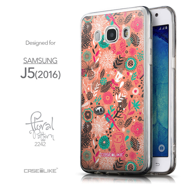 Front & Side View - CASEiLIKE Samsung Galaxy J5 (2016) back cover Spring Forest Pink 2242