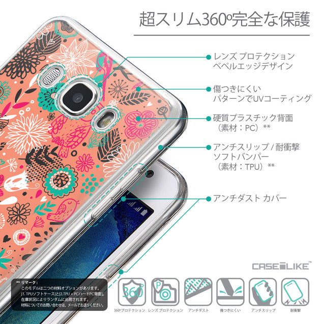 Details in Japanese - CASEiLIKE Samsung Galaxy J5 (2016) back cover Spring Forest Pink 2242