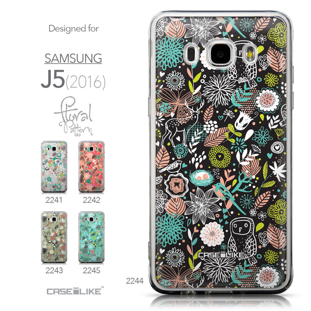 Collection - CASEiLIKE Samsung Galaxy J5 (2016) back cover Spring Forest Black 2244