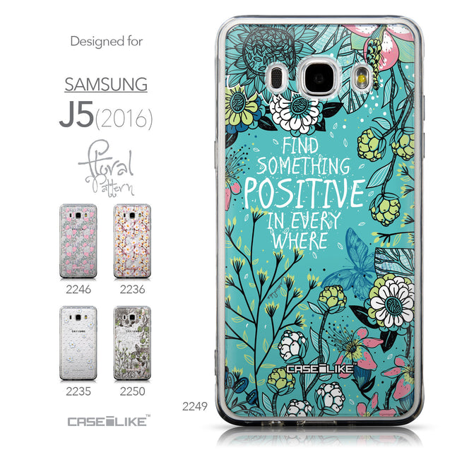 Collection - CASEiLIKE Samsung Galaxy J5 (2016) back cover Blooming Flowers Turquoise 2249