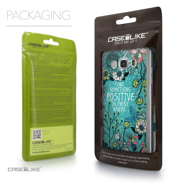 Packaging - CASEiLIKE Samsung Galaxy J5 (2016) back cover Blooming Flowers Turquoise 2249
