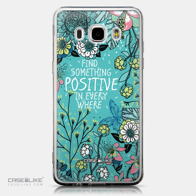 CASEiLIKE Samsung Galaxy J5 (2016) back cover Blooming Flowers Turquoise 2249