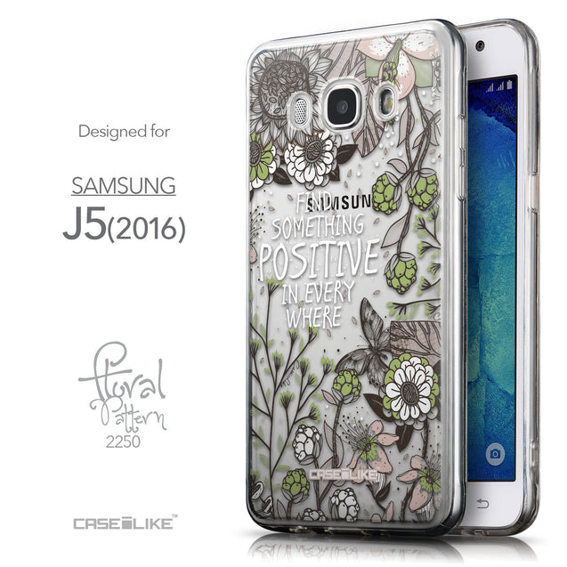 Front & Side View - CASEiLIKE Samsung Galaxy J5 (2016) back cover Blooming Flowers 2250