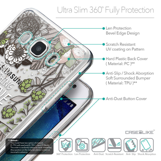 Details in English - CASEiLIKE Samsung Galaxy J5 (2016) back cover Blooming Flowers 2250