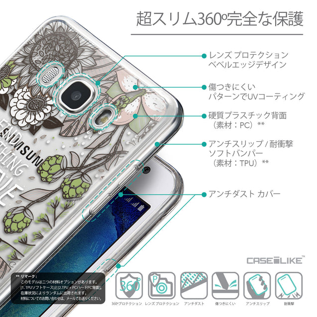 Details in Japanese - CASEiLIKE Samsung Galaxy J5 (2016) back cover Blooming Flowers 2250