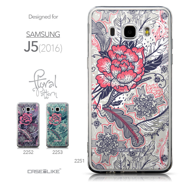 Collection - CASEiLIKE Samsung Galaxy J5 (2016) back cover Vintage Roses and Feathers Beige 2251