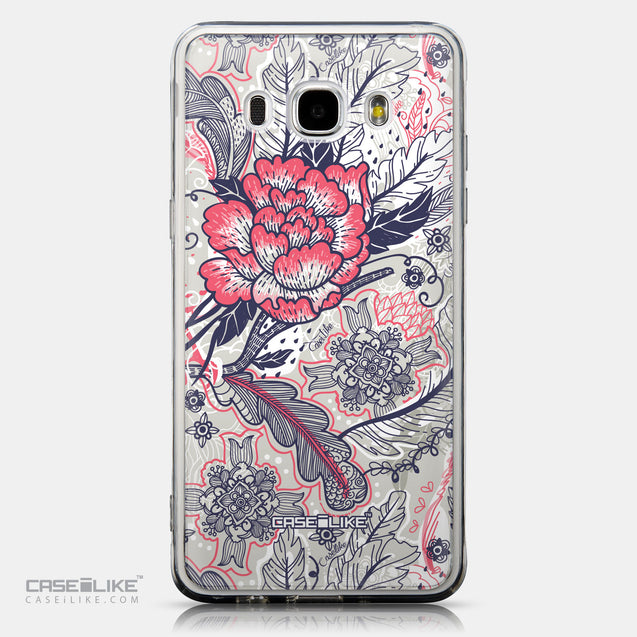 CASEiLIKE Samsung Galaxy J5 (2016) back cover Vintage Roses and Feathers Beige 2251
