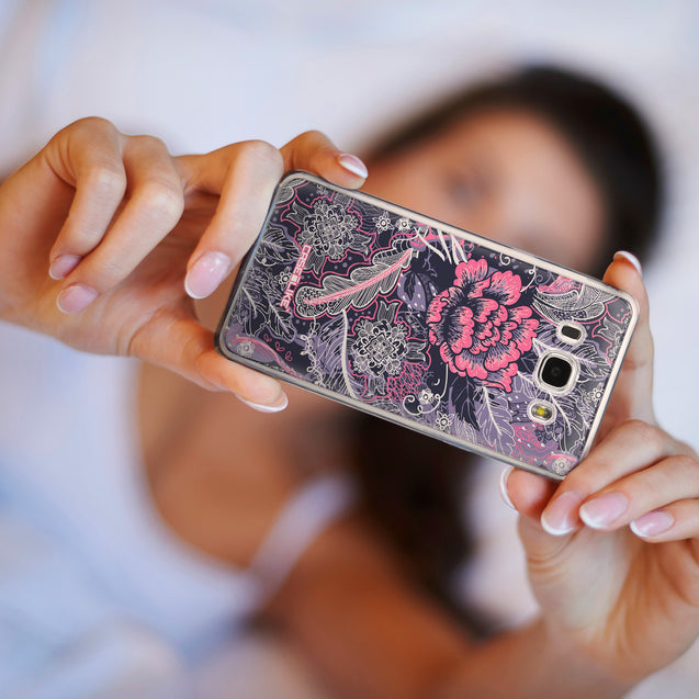 Share - CASEiLIKE Samsung Galaxy J5 (2016) back cover Vintage Roses and Feathers Blue 2252