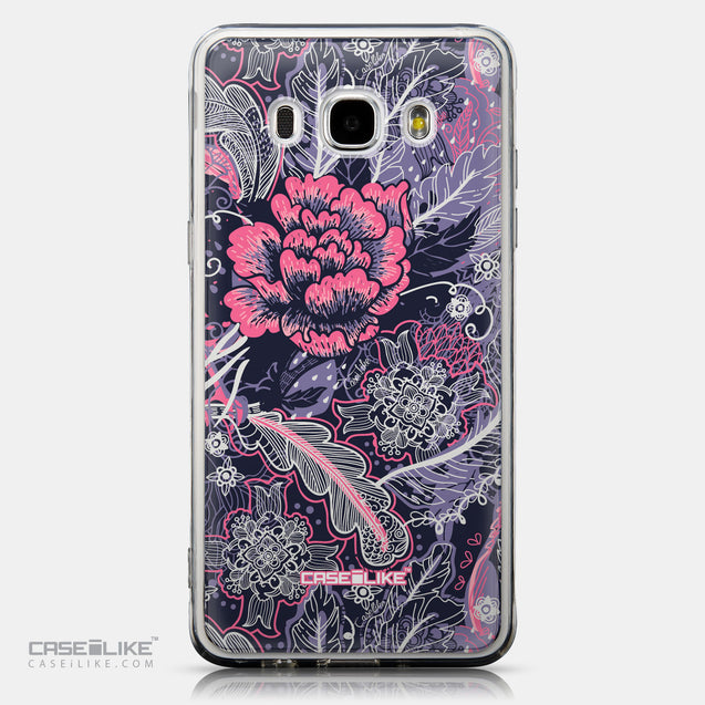 CASEiLIKE Samsung Galaxy J5 (2016) back cover Vintage Roses and Feathers Blue 2252
