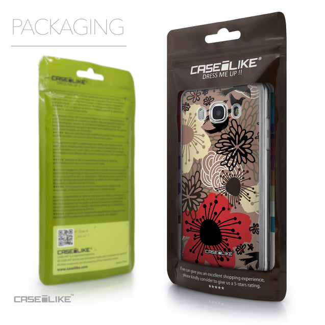 Packaging - CASEiLIKE Samsung Galaxy J5 (2016) back cover Japanese Floral 2254