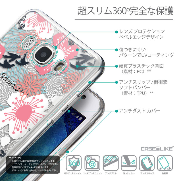 Details in Japanese - CASEiLIKE Samsung Galaxy J5 (2016) back cover Japanese Floral 2255