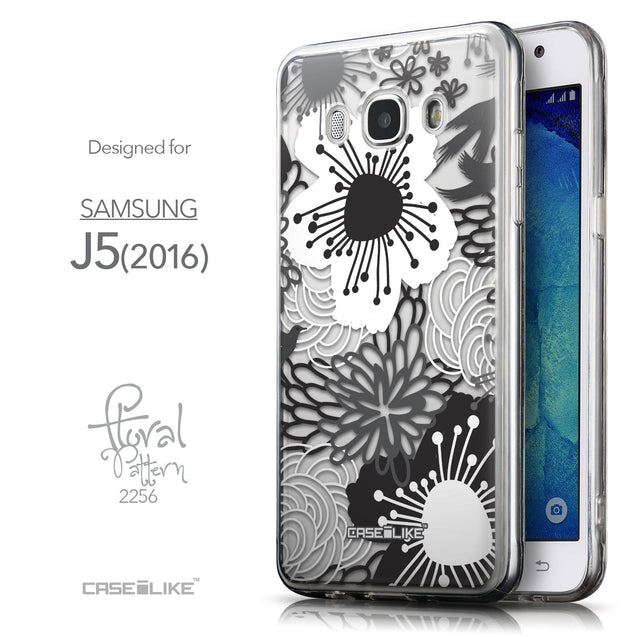 Front & Side View - CASEiLIKE Samsung Galaxy J5 (2016) back cover Japanese Floral 2256