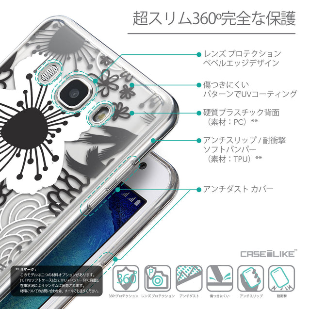 Details in Japanese - CASEiLIKE Samsung Galaxy J5 (2016) back cover Japanese Floral 2256