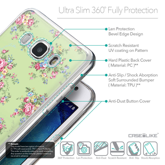 Details in English - CASEiLIKE Samsung Galaxy J5 (2016) back cover Floral Rose Classic 2262