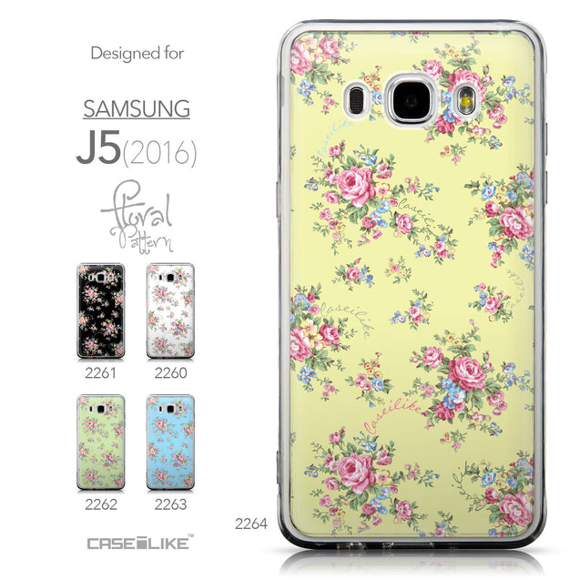 Collection - CASEiLIKE Samsung Galaxy J5 (2016) back cover Floral Rose Classic 2264