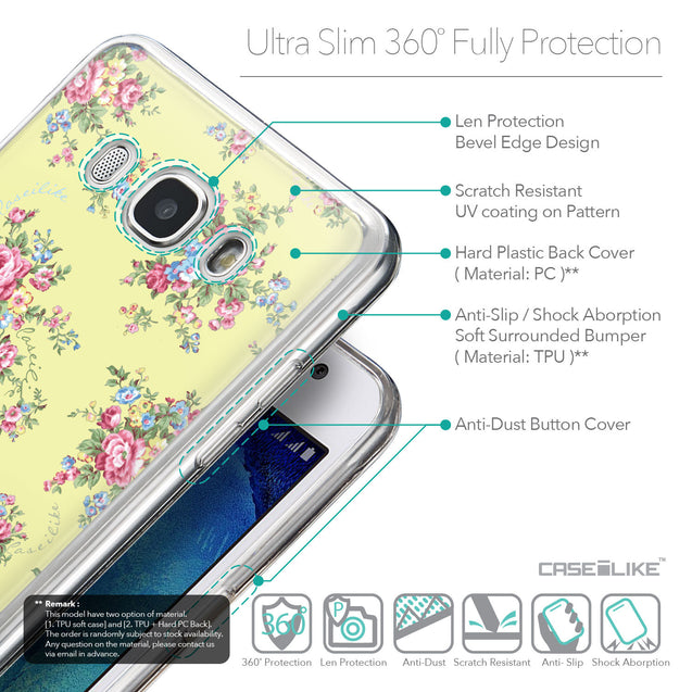 Details in English - CASEiLIKE Samsung Galaxy J5 (2016) back cover Floral Rose Classic 2264