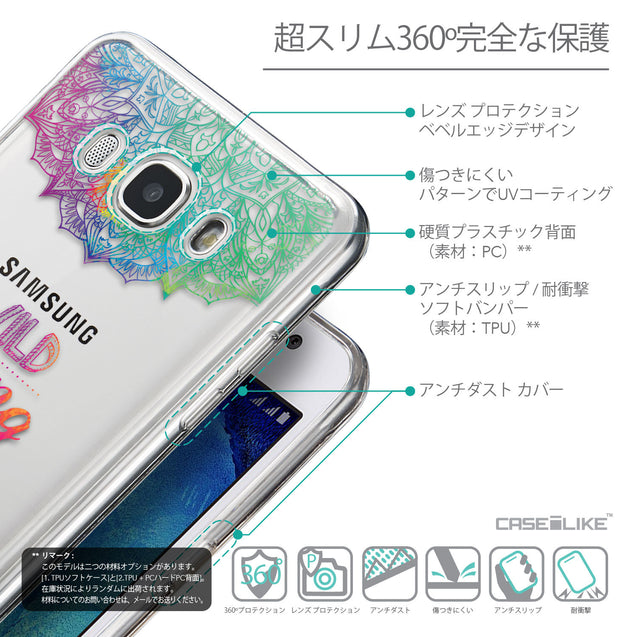 Details in Japanese - CASEiLIKE Samsung Galaxy J5 (2016) back cover Mandala Art 2302