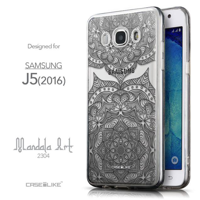 Front & Side View - CASEiLIKE Samsung Galaxy J5 (2016) back cover Mandala Art 2304