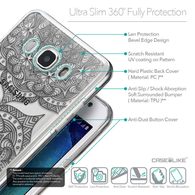 Details in English - CASEiLIKE Samsung Galaxy J5 (2016) back cover Mandala Art 2304