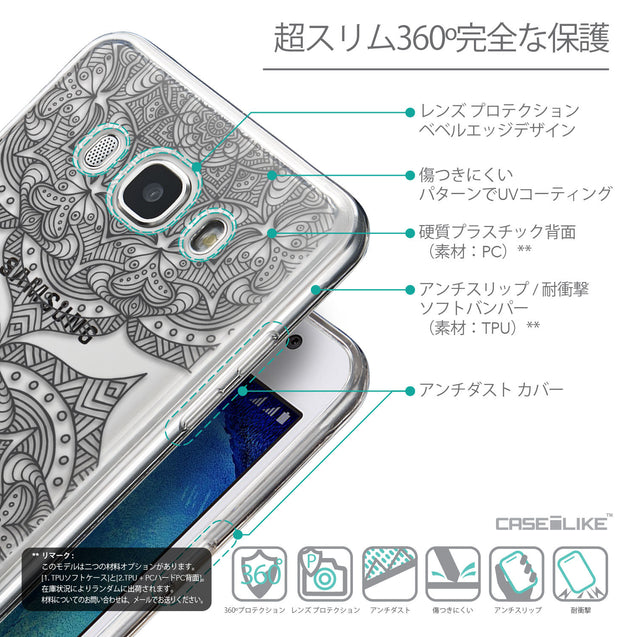 Details in Japanese - CASEiLIKE Samsung Galaxy J5 (2016) back cover Mandala Art 2304