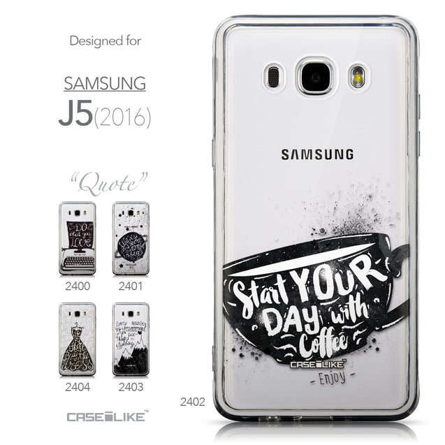 Collection - CASEiLIKE Samsung Galaxy J5 (2016) back cover Quote 2402