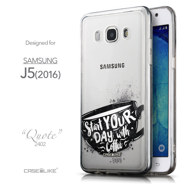 Front & Side View - CASEiLIKE Samsung Galaxy J5 (2016) back cover Quote 2402
