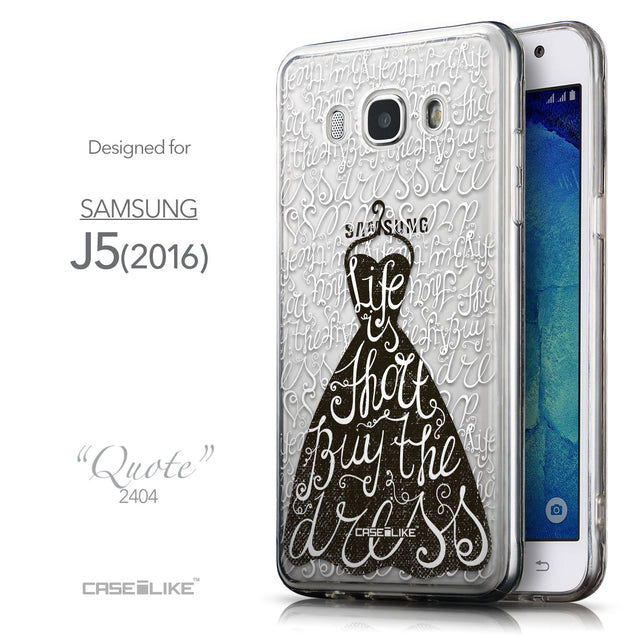 Front & Side View - CASEiLIKE Samsung Galaxy J5 (2016) back cover Indian Tribal Theme Pattern 2053