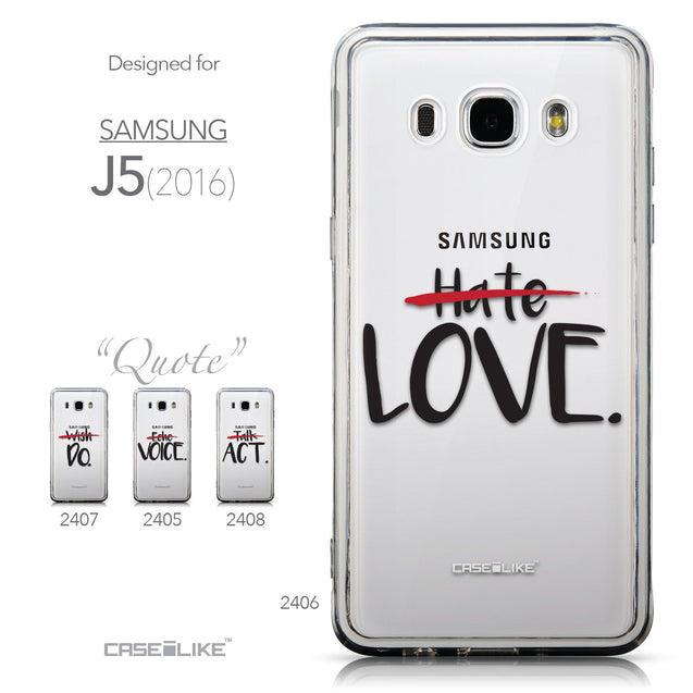 Collection - CASEiLIKE Samsung Galaxy J5 (2016) back cover Quote 2406