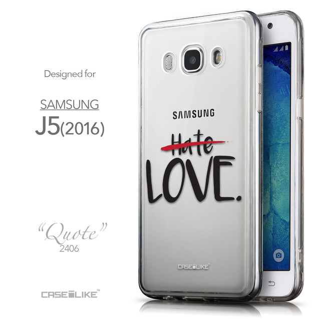 Front & Side View - CASEiLIKE Samsung Galaxy J5 (2016) back cover Quote 2406