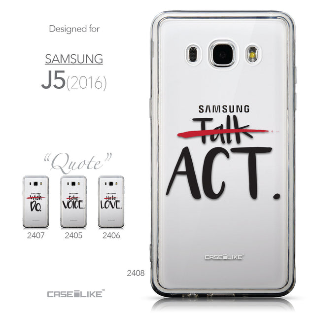 Collection - CASEiLIKE Samsung Galaxy J5 (2016) back cover Quote 2408