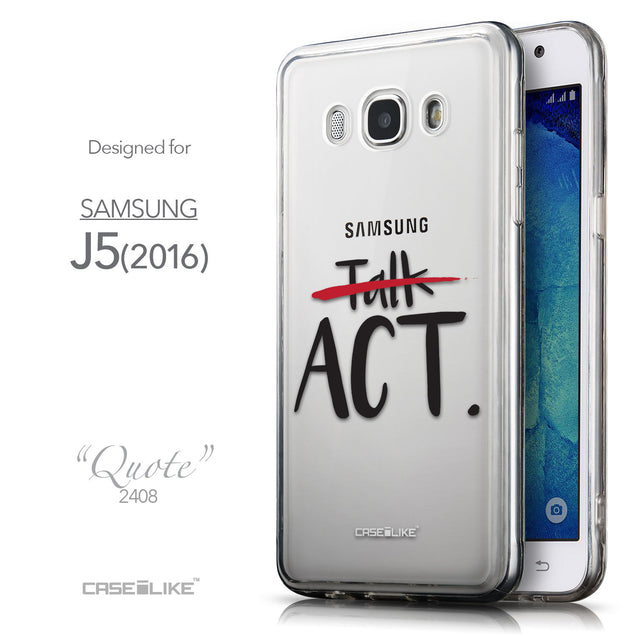 Front & Side View - CASEiLIKE Samsung Galaxy J5 (2016) back cover Quote 2408