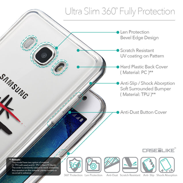 Details in English - CASEiLIKE Samsung Galaxy J5 (2016) back cover Quote 2408