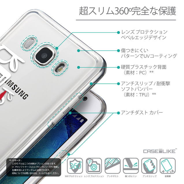 Details in Japanese - CASEiLIKE Samsung Galaxy J5 (2016) back cover Quote 2410