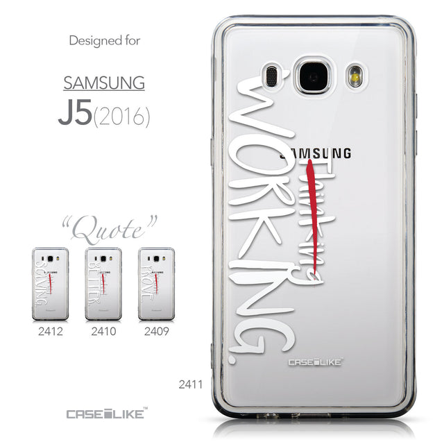 Collection - CASEiLIKE Samsung Galaxy J5 (2016) back cover Quote 2411