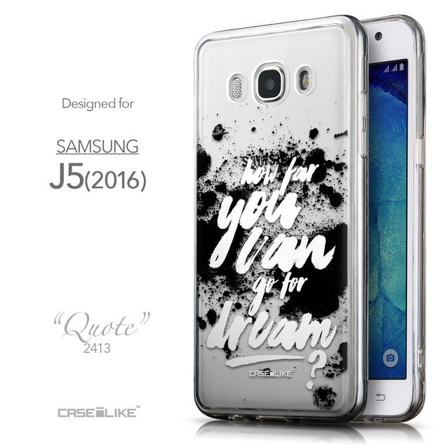 Front & Side View - CASEiLIKE Samsung Galaxy J5 (2016) back cover Quote 2413