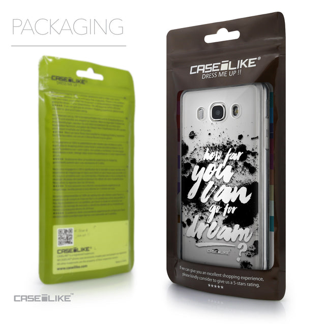 Packaging - CASEiLIKE Samsung Galaxy J5 (2016) back cover Quote 2413