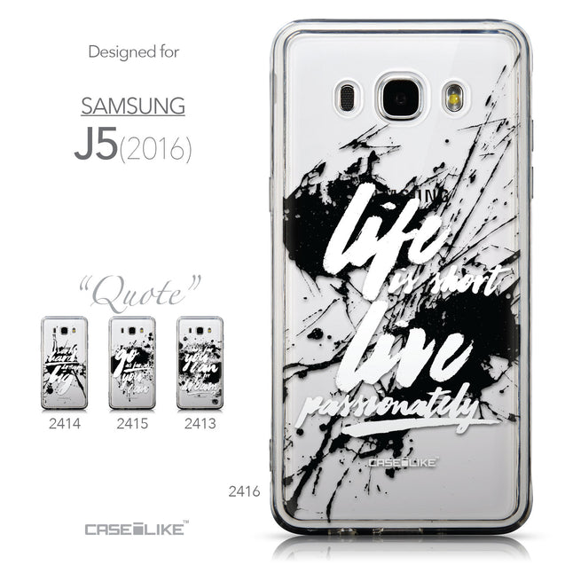 Collection - CASEiLIKE Samsung Galaxy J5 (2016) back cover Quote 2416