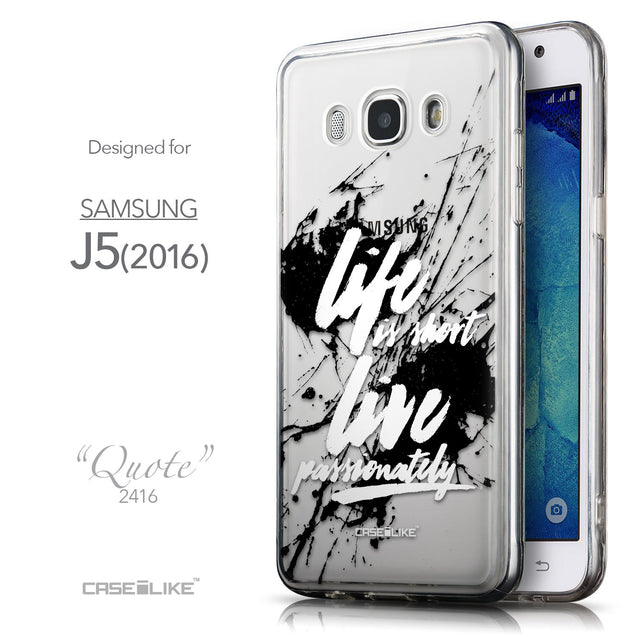 Front & Side View - CASEiLIKE Samsung Galaxy J5 (2016) back cover Quote 2416
