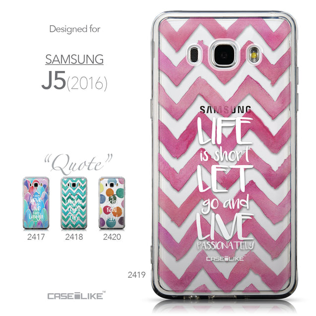 Collection - CASEiLIKE Samsung Galaxy J5 (2016) back cover Quote 2419