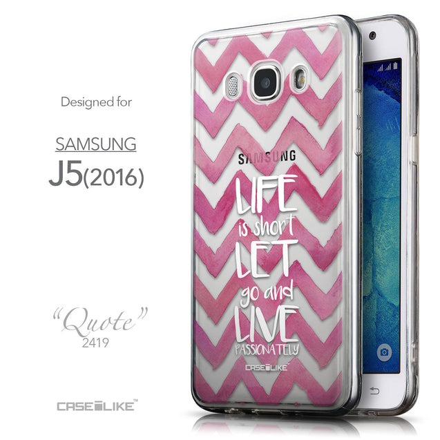 Front & Side View - CASEiLIKE Samsung Galaxy J5 (2016) back cover Quote 2419