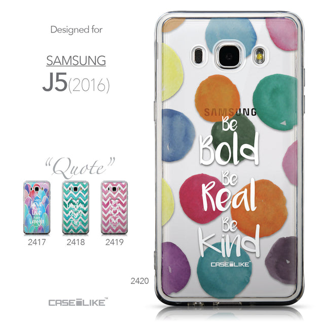 Collection - CASEiLIKE Samsung Galaxy J5 (2016) back cover Quote 2420