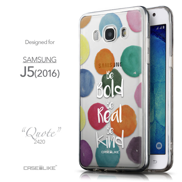 Front & Side View - CASEiLIKE Samsung Galaxy J5 (2016) back cover Quote 2420