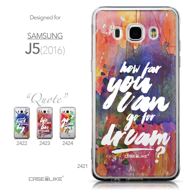 Collection - CASEiLIKE Samsung Galaxy J5 (2016) back cover Quote 2421