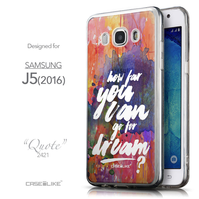 Front & Side View - CASEiLIKE Samsung Galaxy J5 (2016) back cover Quote 2421