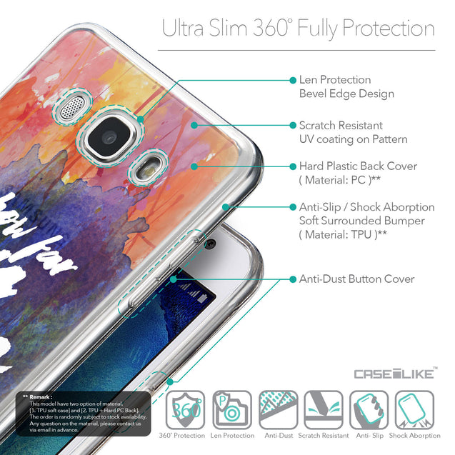 Details in English - CASEiLIKE Samsung Galaxy J5 (2016) back cover Quote 2421