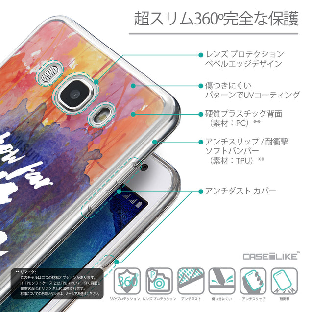 Details in Japanese - CASEiLIKE Samsung Galaxy J5 (2016) back cover Quote 2421