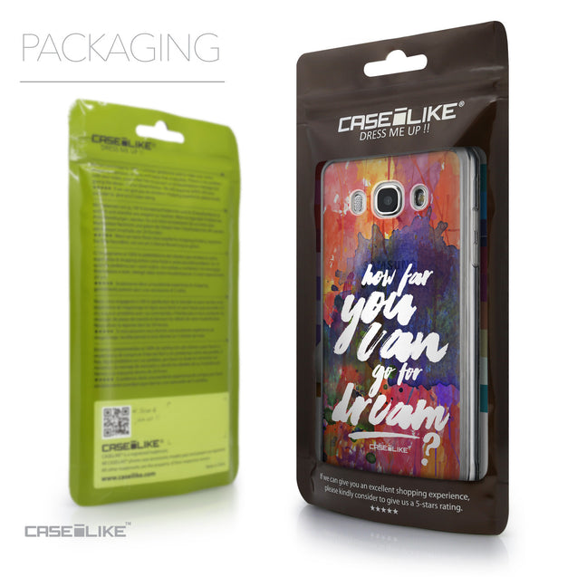 Packaging - CASEiLIKE Samsung Galaxy J5 (2016) back cover Quote 2421