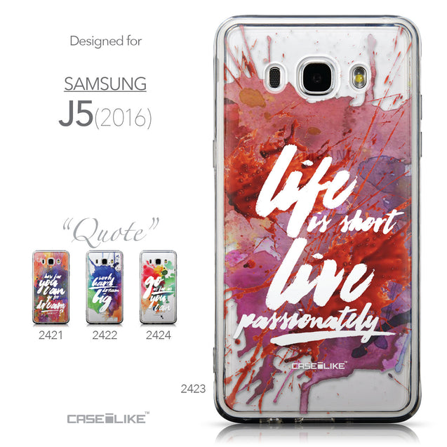 Collection - CASEiLIKE Samsung Galaxy J5 (2016) back cover Quote 2423