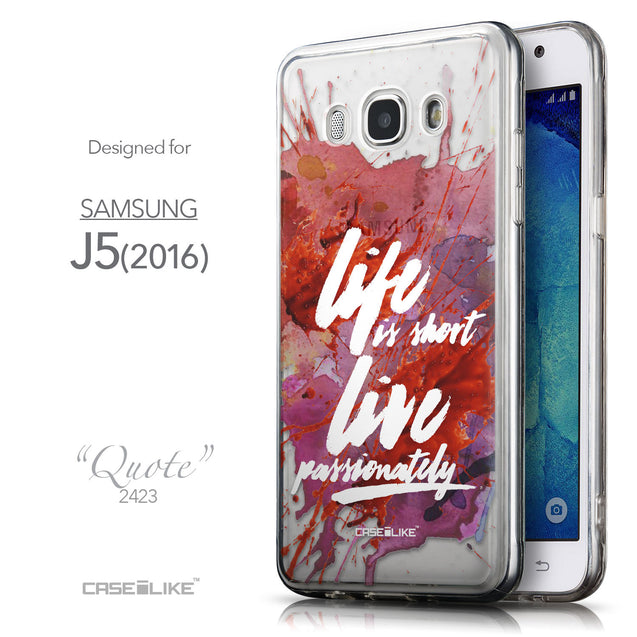 Front & Side View - CASEiLIKE Samsung Galaxy J5 (2016) back cover Quote 2423
